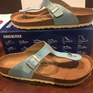 Birkenstock Gizeh metallic aqua 12 medium new